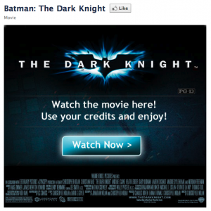 The Dark Night Facebook location