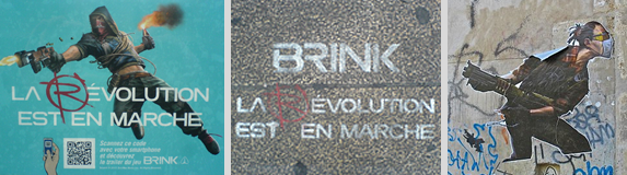 Campagne Street Marketing Brink Paris