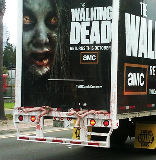 Arrière du camion Walking dead pour la Comicon 2012