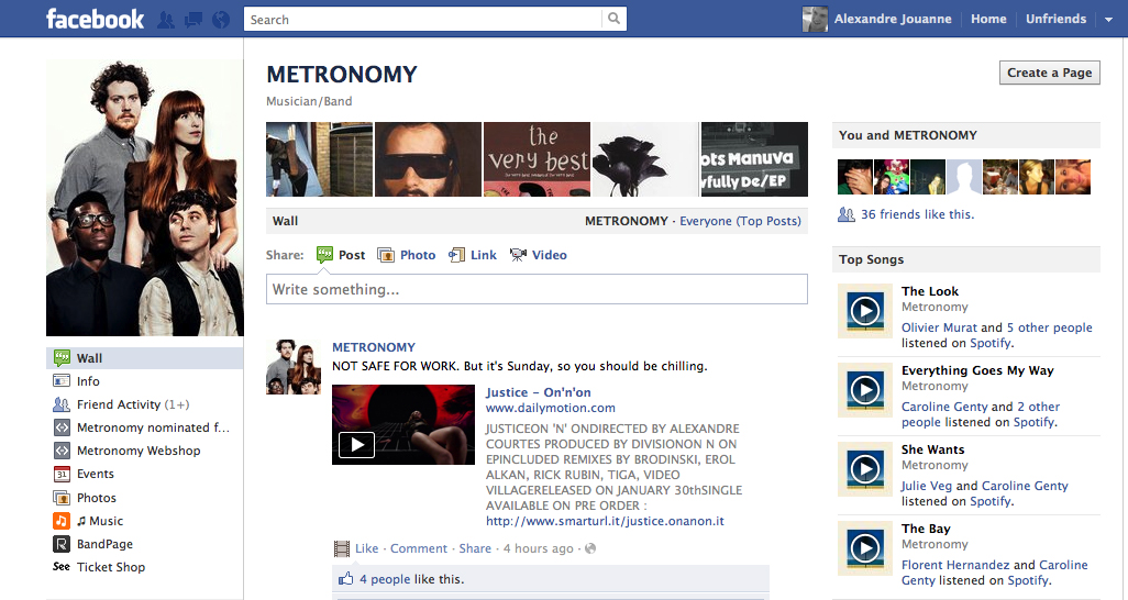Metronomy Facebook
