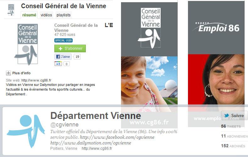 Quelques présences en ligne du conseil général de la Vienne