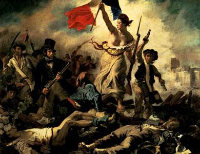 La liberté guidant le peuple de Eugène Delacroix