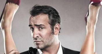 """Affiche provocante et censurée du film """"Les Infidèles"""", avec Jean Dujardin"""