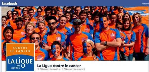 Page Facebook de la Ligue contre le cancer