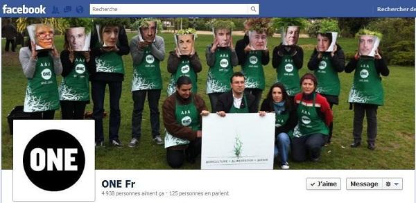 Page Facebook de One France