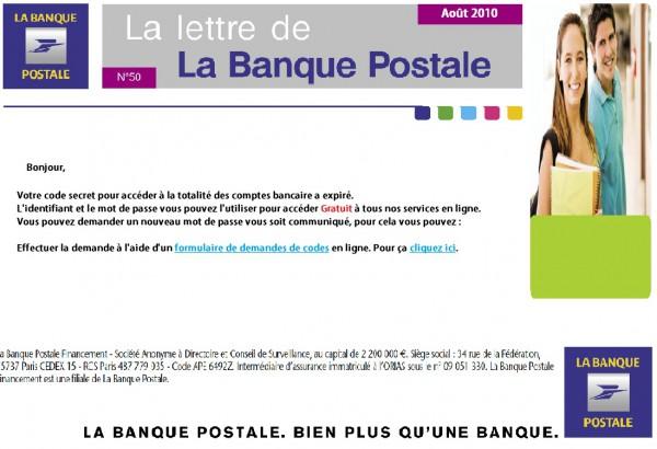 Arnaque La Banque Postale