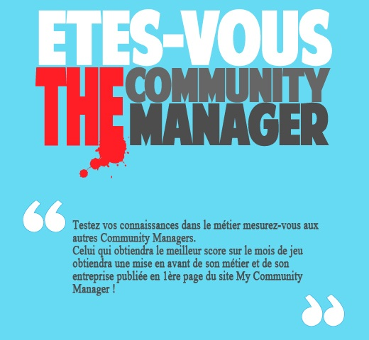 Application Facebook Etes-vous The Community Manager