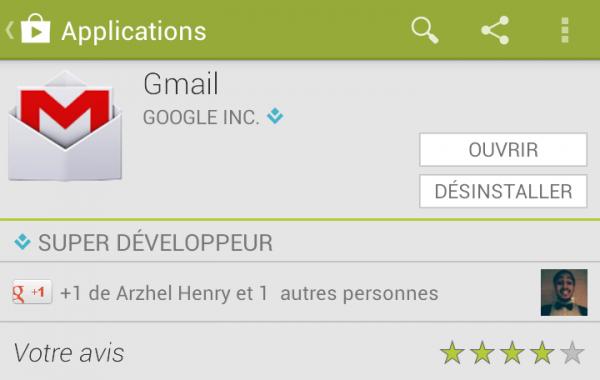 """Surcouche : Arzhel a """"plusé"""" GMail et j'ai donné mon avis avec mon compte G+"""