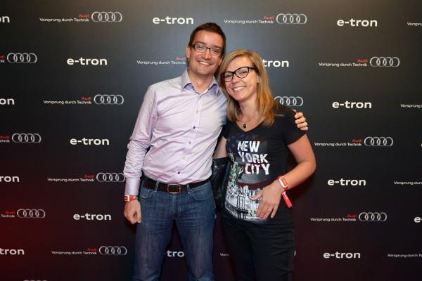 Anne Delauney et Guillaume Ermenault à la soirée Audi