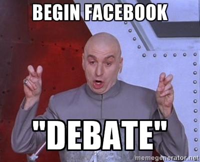 Faux débat facebook
