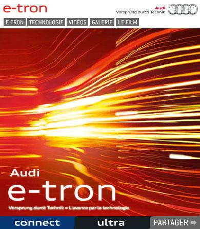 Accès à un mini site - Audi E-tron Kpsule