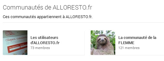 Les communautés d'AlloResto