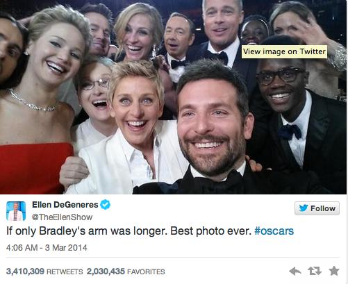 Selfie des Oscars
