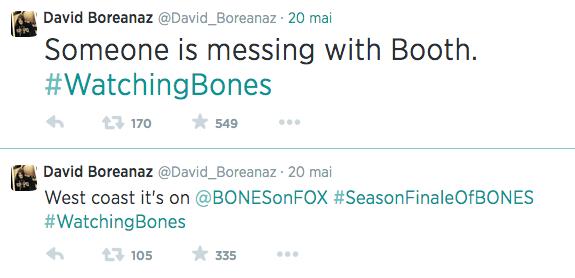 Boreanaz livetweet