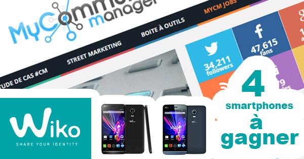 4 smartphones à gagner avec @wikomobile