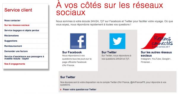 contact-air-france-réseaux-sociaux