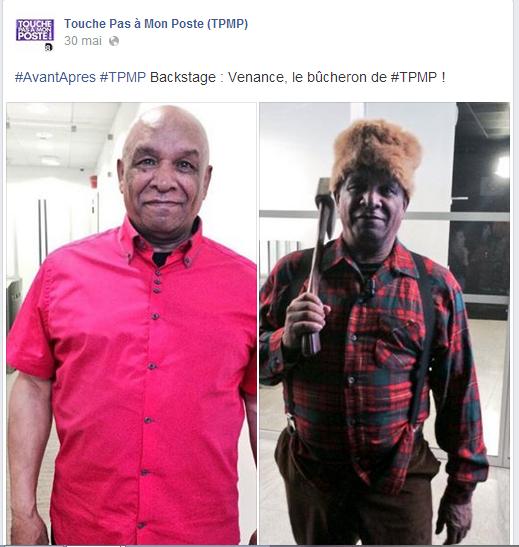 Un post impliquant le public de TPMP sur Facebook