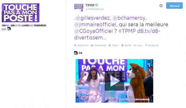 L'autodérision de l'émission TPMP à travers un tweet