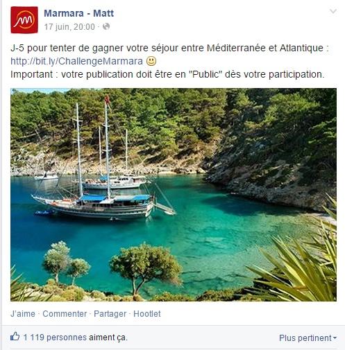 marmara concours facebook