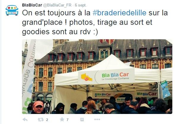 BlaBlaCar braderie de Lille