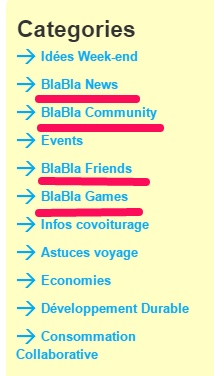 Blog BlaBlaCar menu
