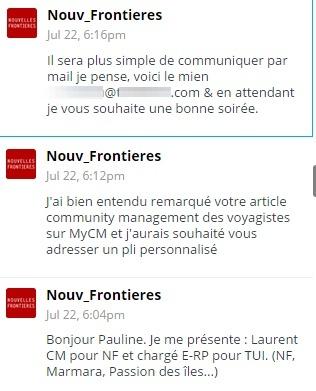 Prise de contact Laurent NF