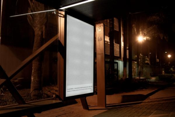 Publicité Abribus Paolo Coelho