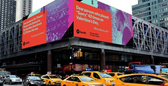 Une campagne d'affichage publicitaire originale pour Spotify